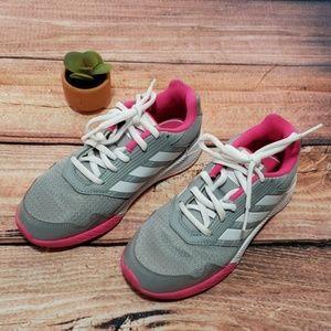 Adidas girl's sneaker shoe sz 1.5 euc